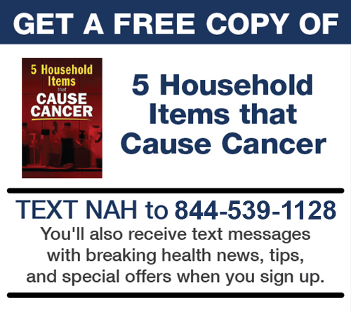 Get a free copy of 5 Household Items that Cause Cancer